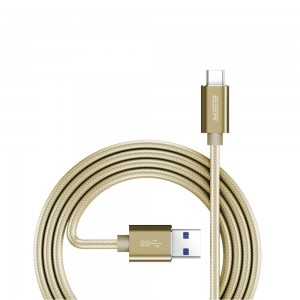 Купить Плетеный кабель ESR Cable Champagne Gold USB-C Cable -1M