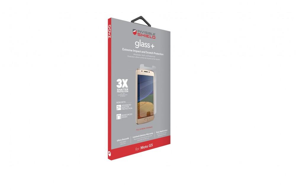 Защитное стекло InvisibleShield Glass+ Lenovo Moto G5 - Screen Clear (MG5LGS-F00)