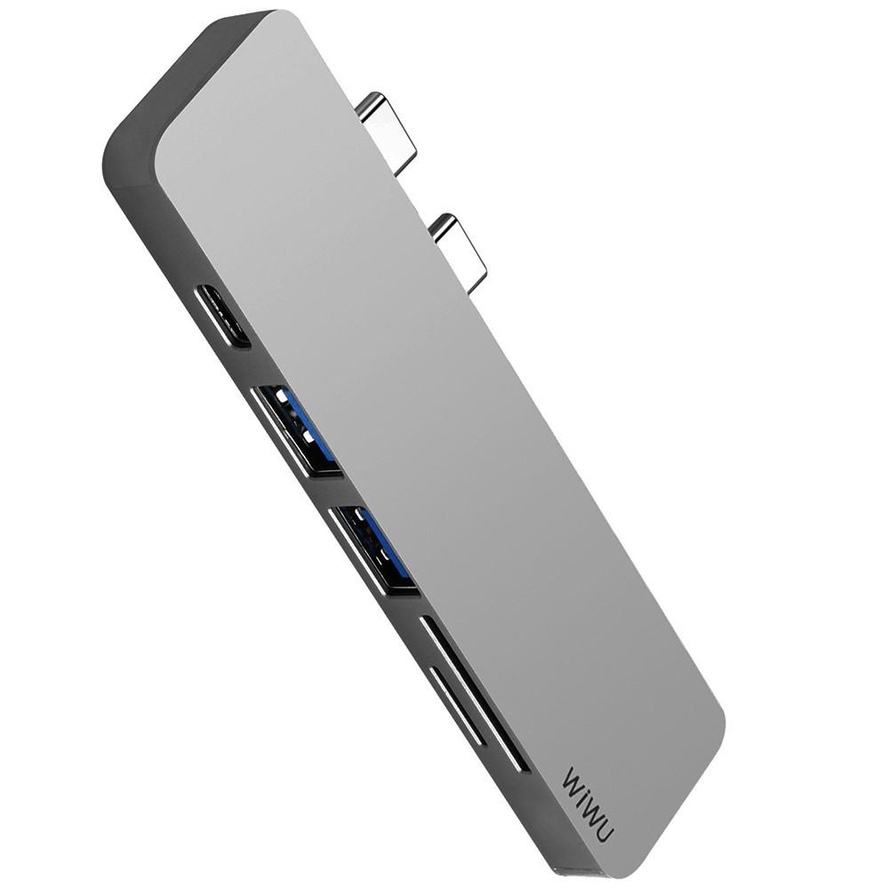 USB-C Хаб WIWU T8 Lite Type C converter Grey