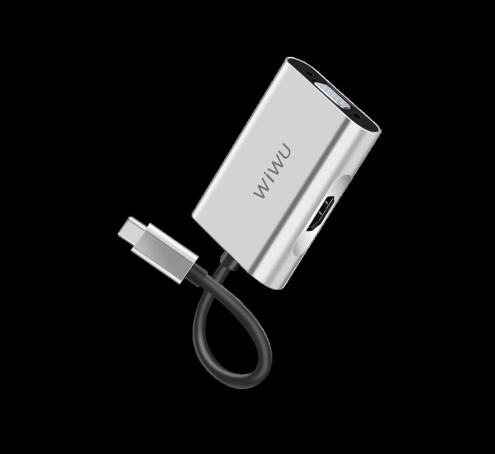 USB-C Хаб WIWU Apollo A20VH Sliver