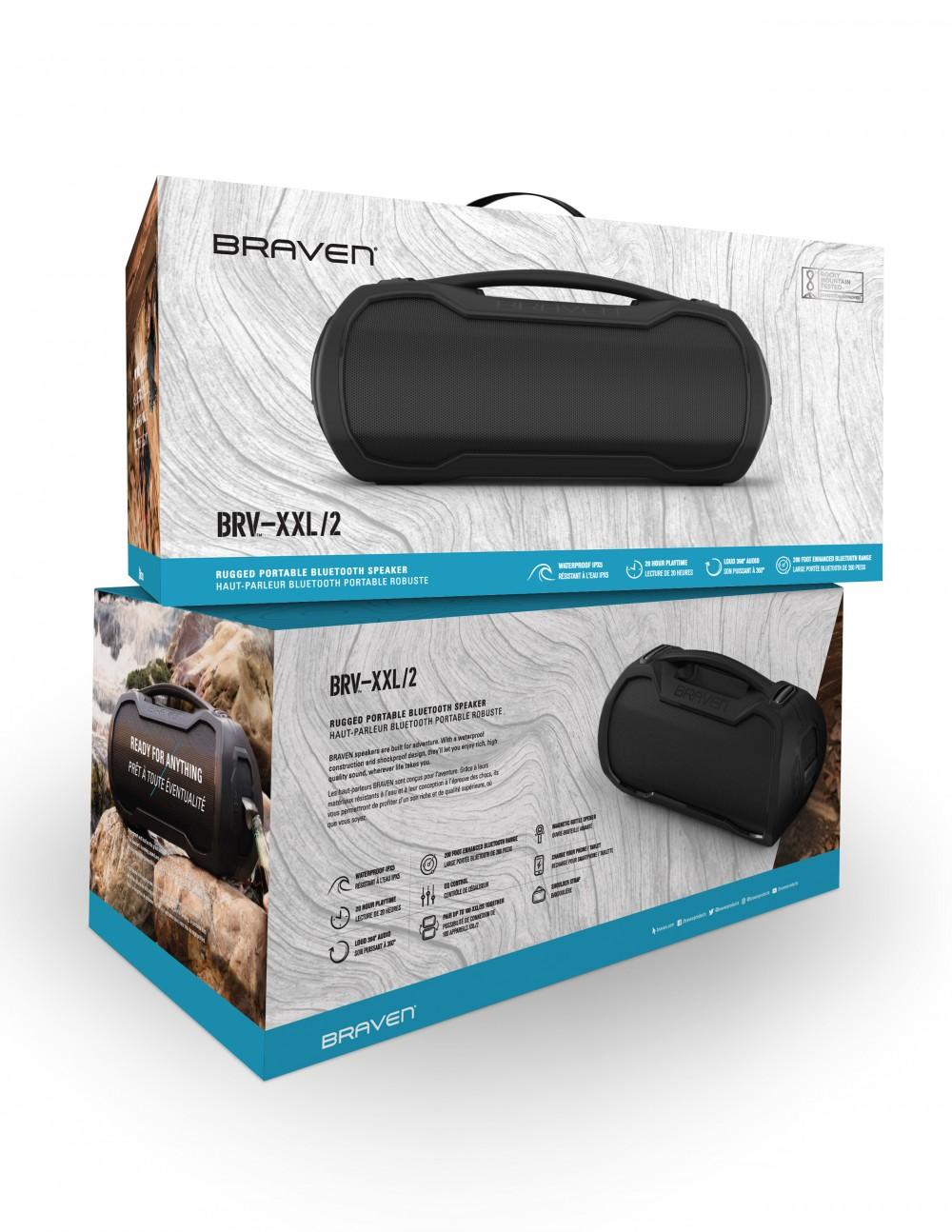 Портативная Bluetooth колонка Braven Speaker-BRV-XXL/2 Black (604202711)