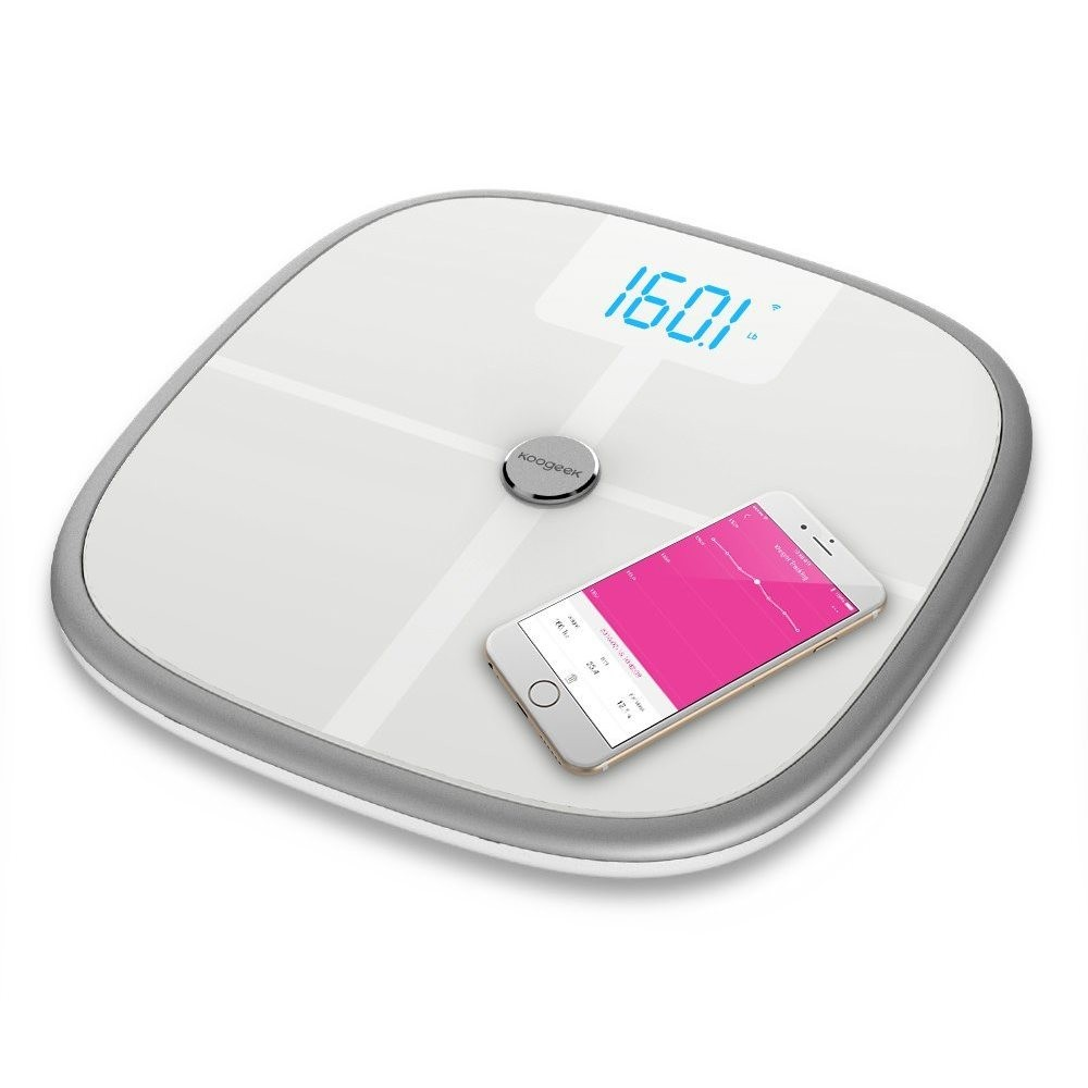 Умные весы Koogeek Bluetooth & Wi-Fi Smart Health Scale White (KS1)