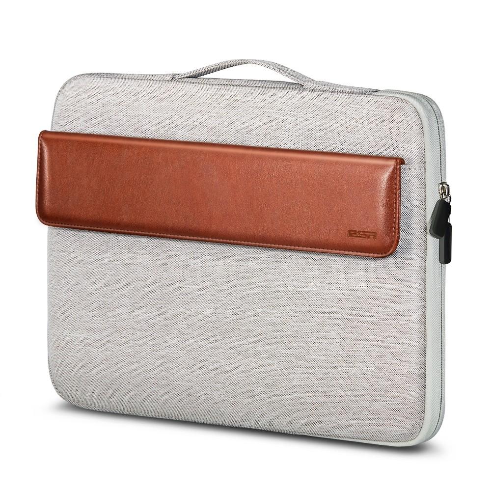 Чехол-сумка ESR Macbook Sleeve Light Gray+Brown 13 inch