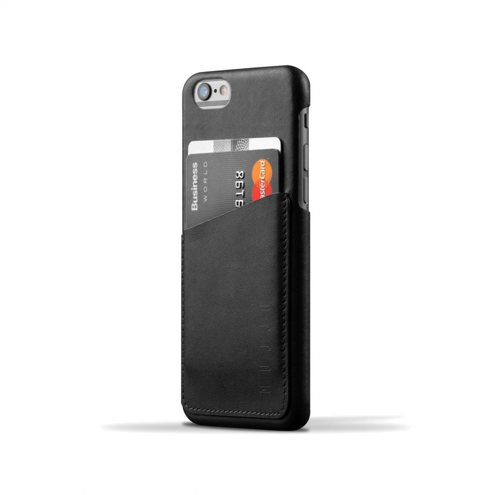 Кожаный чехол с отделением для карт MUJJO Leather Wallet Case iPhone 6/6s Black (MUJJO-SL-082-BK)