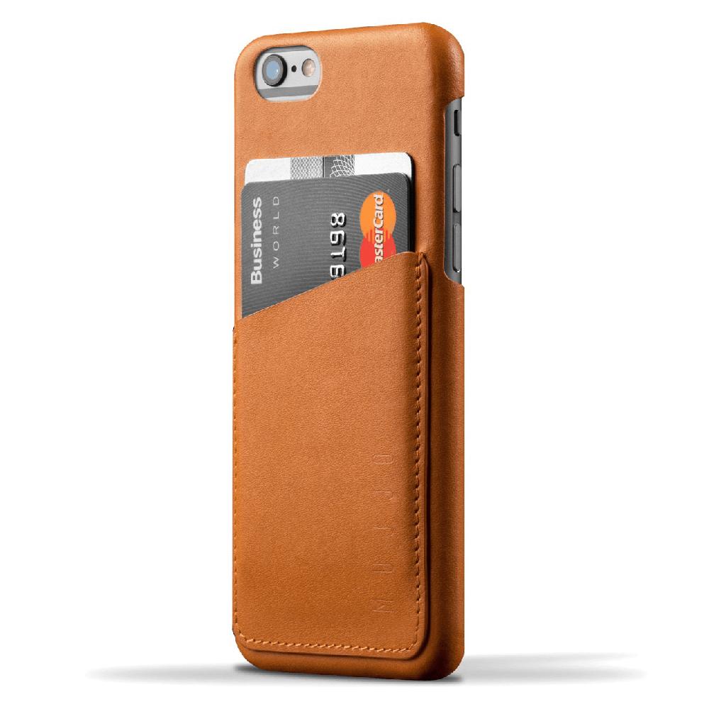 Кожаный чехол с отделением для карт MUJJO Leather Wallet Case iPhone 6/6s Tan (MUJJO-SL-082-TN)