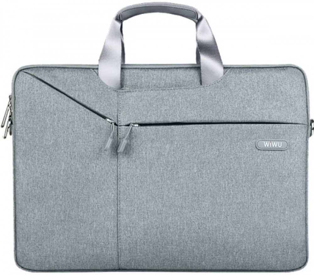 Чехол-сумка WIWU 12 Gent Business handbag light grey