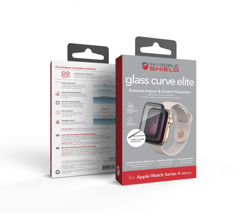Защитное стекло InvisibleShield Glass Curve Elite-Apple-Watch (40mm)-Series 4-Full Screen Black (200102450)