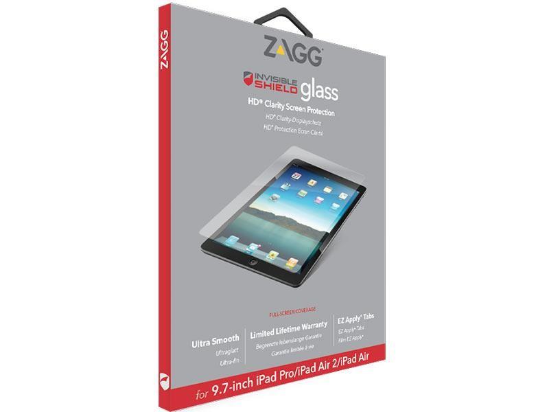 Защитное стекло InvisibleShield GLASS-Apple iPad Air/Air 2/Pro 9.7 Clear (ID6GLS-F00)