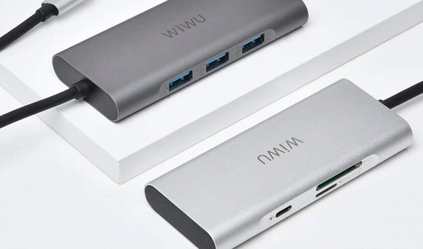 USB-C Хаб WIWU Apollo A731TH Sliver