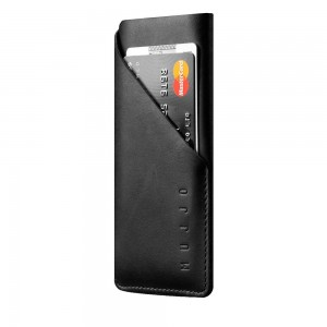 Купить Чехол-карман MUJJO Leather Wallet Sleeve iPhone X Black (MUJJO-SL-103-BK)