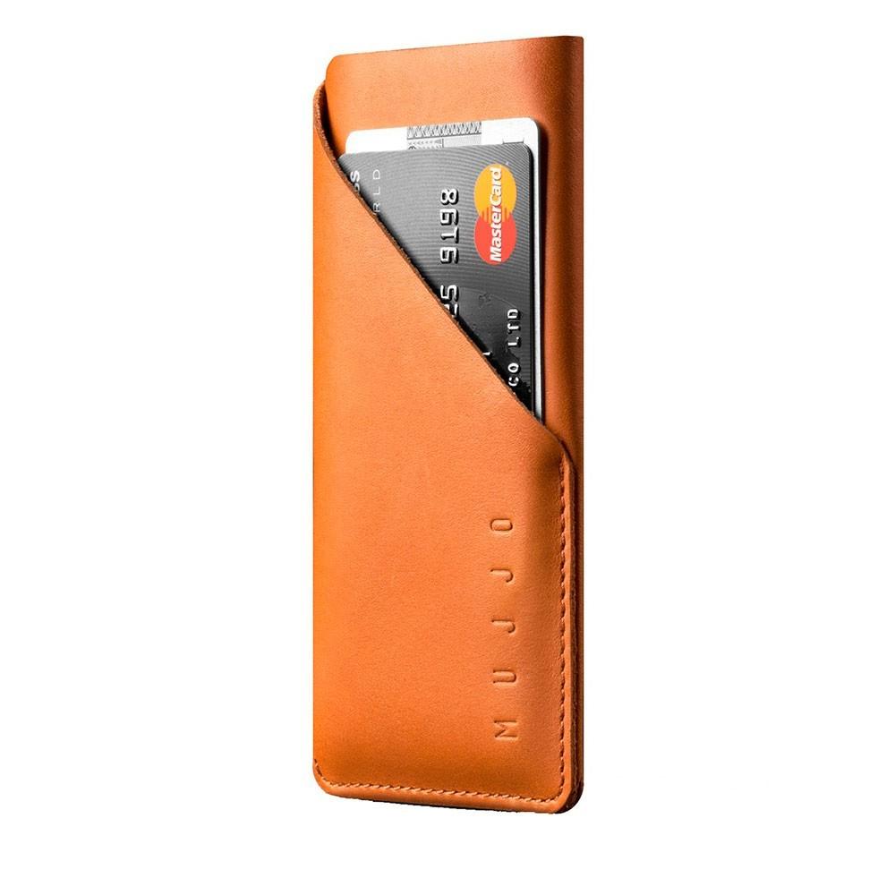 Чехол-карман MUJJO Leather Wallet Sleeve iPhone X Tan (MUJJO-SL-103-TN)