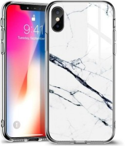 Купить Мраморный чехол ESR Mimic-Marble White iPhone XR