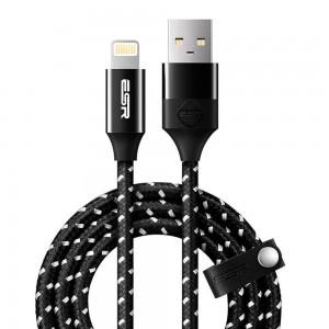 Купить Плетеный кабель ESR Cable Black Mfi Lightning Cable-1M