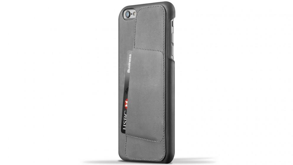 Кожаный чехол с отделением для карт MUJJO Leather Wallet Case 80° iPhone 6 Plus/6s Plus Gray (MUJJO-SL-084-GY)