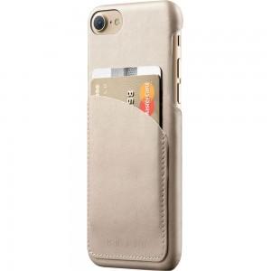 Купить Кожаный чехол с отделением для карт MUJJO Leather Wallet Case iPhone 8/7 Champagne (MUJJO-CS-026-CH)