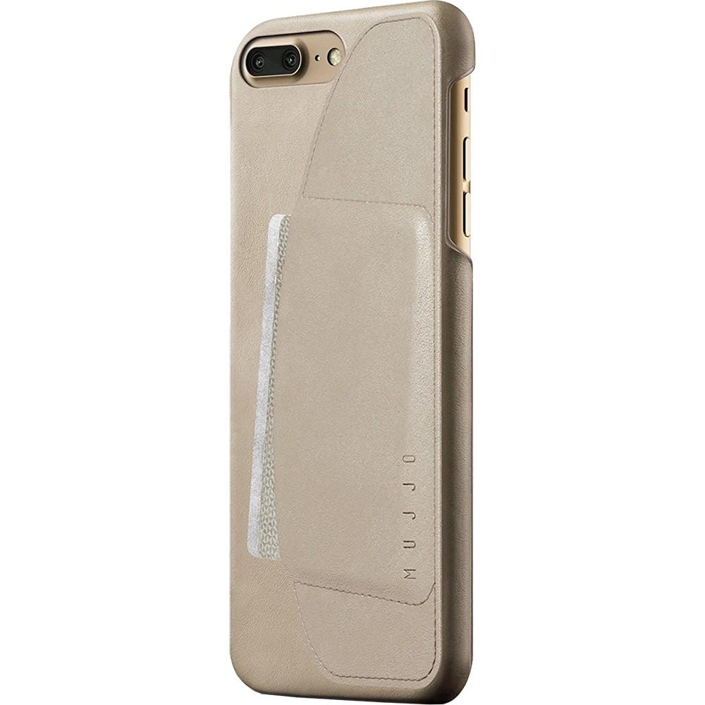 Кожаный чехол с отделением для карт MUJJO Leather Wallet Case iPhone 8 Plus/7 Plus Champagne (MUJJO-CS-027-CH)