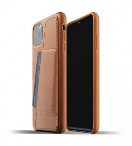 Купить Кожаный чехол с отделением для карт MUJJO Full Leather Wallet Case Tan iPhone 11 Pro (MUJJO-CL-002-TN)