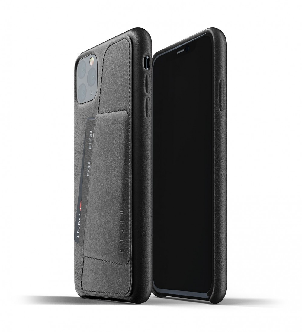 Кожаный чехол с отделением для карт MUJJO Full Leather Wallet Case Black iPhone 11 Pro (MUJJO-CL-002-BK)