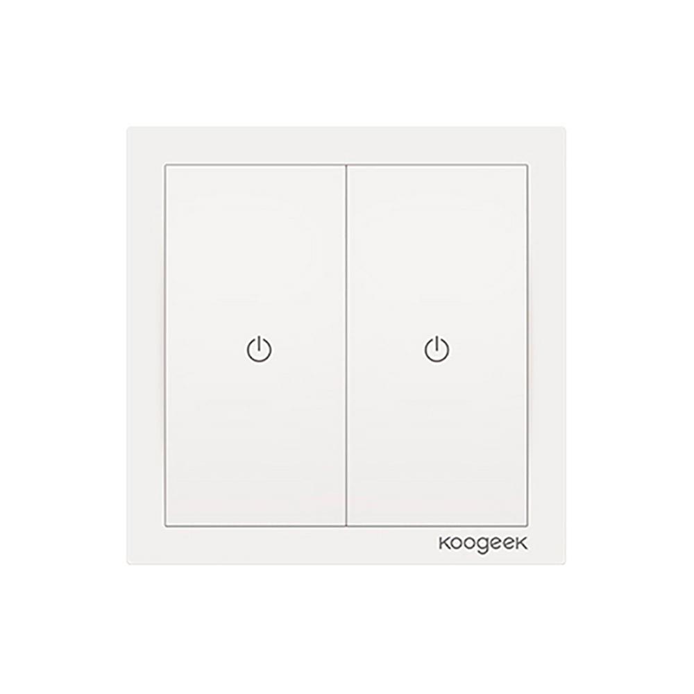 Умный выключатель Koogeek Two Gang Smart Light Switch HomeKit White (KH02CN)