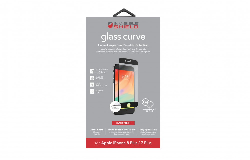 Защитное стекло InvisibleShield Glass Curve - Apple iPhone 8 Plus / 7 Plus - Screen - Black Black (200101459)
