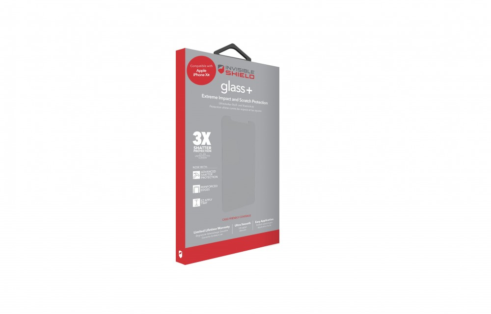 Защитное стекло InvisibleShield Glass+ Apple iPhone Xr - Case Friendly Screen Clear (200102003)