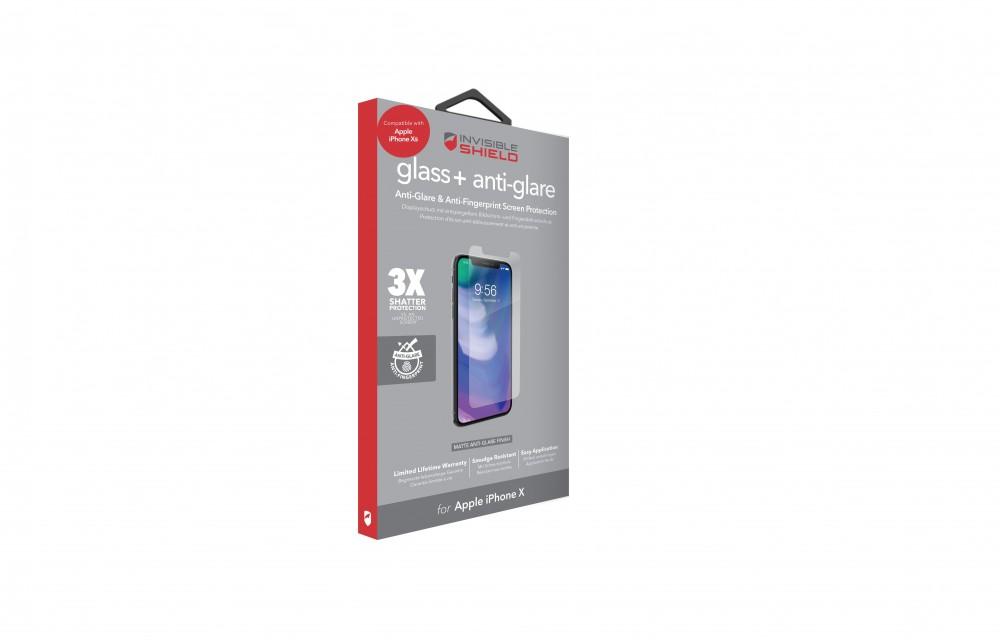 Защитное стекло InvisibleShield Glass+ Anti-Glare - Apple iPhone Xs/X- Case Friendly-Screen Clear (200101972)