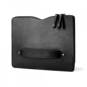 "Купить Кожаный чехол-сумка MUJJO Carry-On Folio Sleeve 12"" Macbook Black (MUJJO-SL-090-BK)"