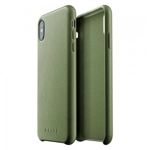 Купить Кожаный чехол MUJJO Full Leather Case iPhone Xs Max Olive (MUJJO-CS-103-OL)