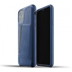 Купить Кожаный чехол с отделением для карт MUJJO Full Leather Wallet Case Monaco Blue IPhone 11 (MUJJO-CL-006-BL)