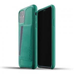 Купить Кожаный чехол с отделением для карт MUJJO Full Leather Wallet Case Alpine Green IPhone 11 (MUJJO-CL-006-AG)