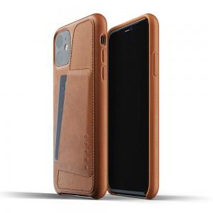 Купить Кожаный чехол с отделением для карт MUJJO Full Leather Wallet Case Tan IPhone 11 (MUJJO-CL-006-TN)