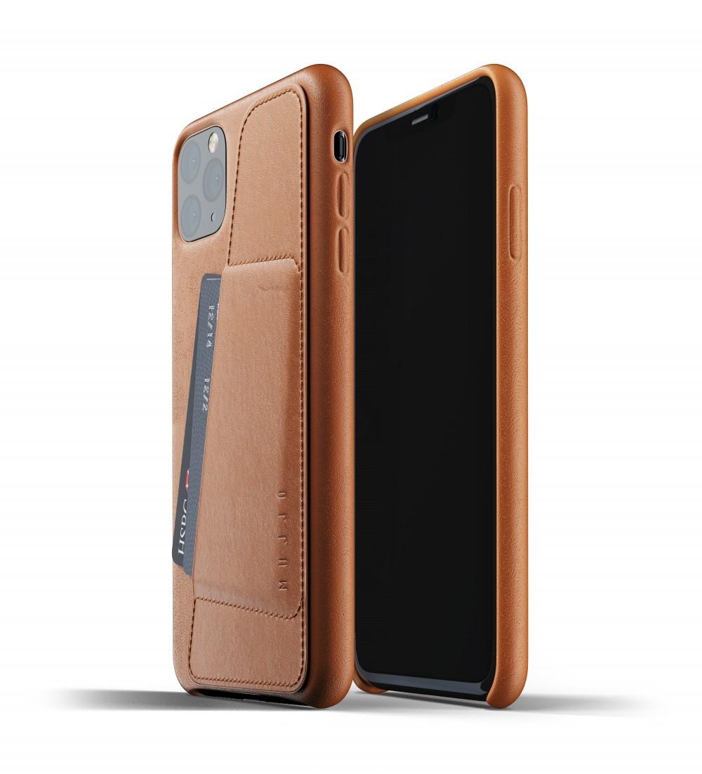 Кожаный чехол с отделением для карт MUJJO Full Leather Wallet Case Tan iPhone 11 Pro Max (MUJJO-CL-004-TN)