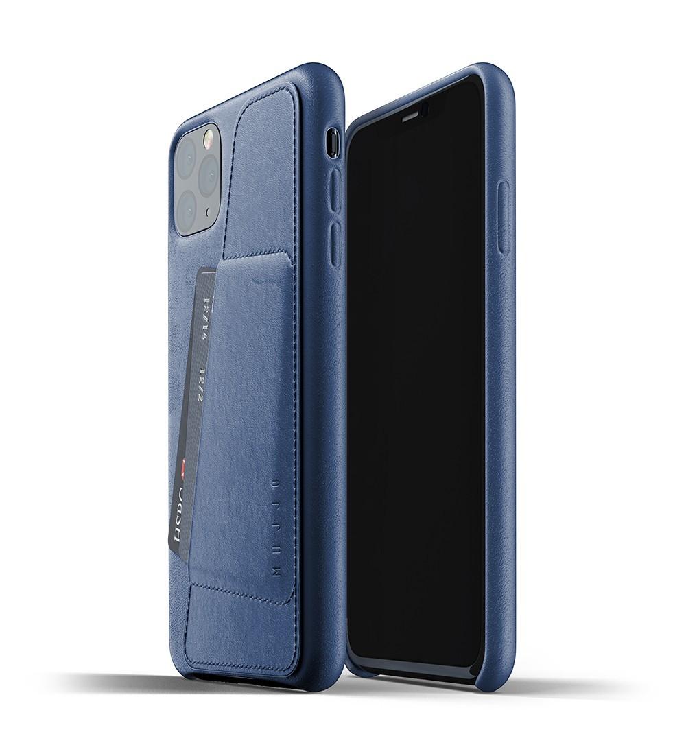 Кожаный чехол с отделением для карт MUJJO Full Leather Wallet Case Monaco Blue iPhone 11 Pro Max (MUJJO-CL-004-BL)