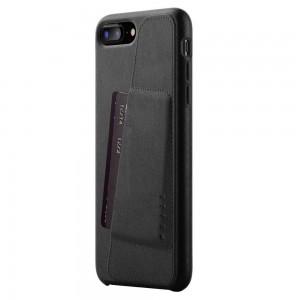 Купить Кожаный чехол с отделением для карт MUJJO Full Leather Wallet Case iPhone 8 Plus/7 Plus Black (MUJJO-CS-091-BK)