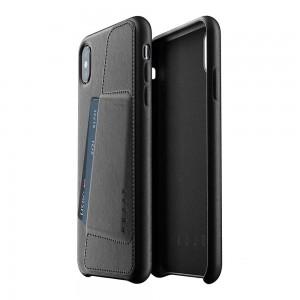 Купить Кожаный чехол с отделением для карт MUJJO Full Leather Wallet Case iPhone Xs Max Black (MUJJO-CS-102-BK)