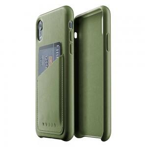 Купить Кожаный чехол с отделением для карт MUJJO Full Leather Wallet Case iPhone Xr Olive (MUJJO-CS-104-OL)