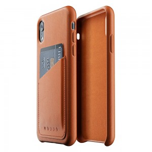 Купить Кожаный чехол с отделением для карт MUJJO Full Leather Wallet Case iPhone Xr Tan (MUJJO-CS-104-TN)