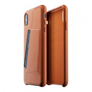 Купить Кожаный чехол с отделением для карт MUJJO Full Leather Wallet Case iPhone Xs Max Tan (MUJJO-CS-102-TN)