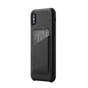 Купить Кожаный чехол с отделением для карт MUJJO Full Leather Wallet Case iPhone Xs Black (MUJJO-CS-092-BK)