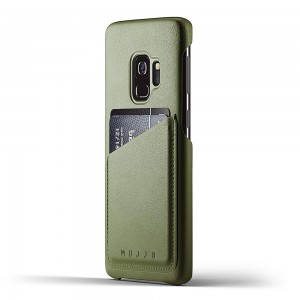 Купить Кожаный чехол MUJJO Full Leather Wallet Case Galaxy S9 Olive (MUJJO-CS-100-OL)