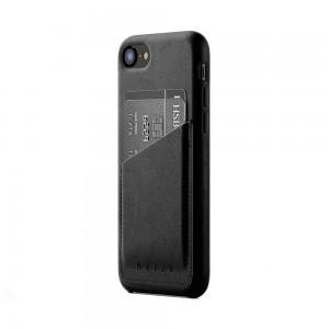 Купить Кожаный чехол с отделением для карт MUJJO Full Leather Wallet Case iPhone 8/7 Black (MUJJO-CS-090-BK)