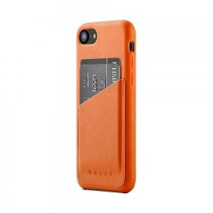 Купить Кожаный чехол с отделением для карт MUJJO Full Leather Wallet Case iPhone 8/7 Tan (MUJJO-CS-090-TN)