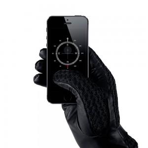 Купить Сенсорные перчатки MUJJO Leather Crochet Touchscreen Gloves - Size 9 Black (MUJJO-GLLT-020-90)