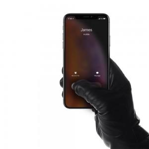 Купить Сенсорные кожаные перчатки MUJJO Leather Touchscreen Gloves - Size 9 Black (MUJJO-GLLT-050-90)