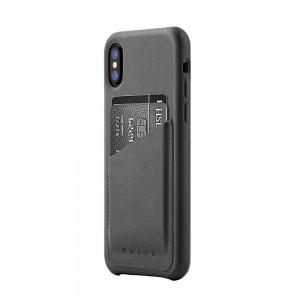 Купить Кожаный чехол с отделением для карт MUJJO Full Leather Wallet Case iPhone Xs Gray (MUJJO-CS-092-GY)
