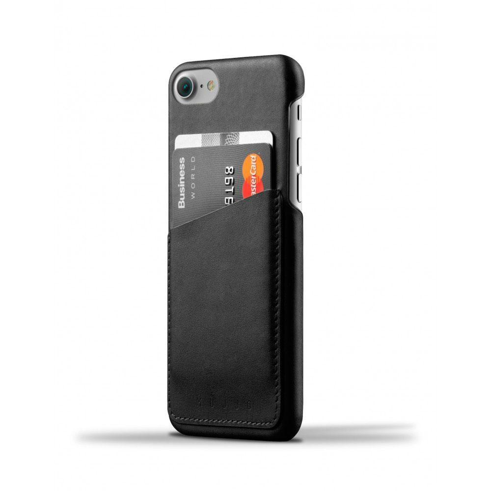 Кожаный чехол с отделением для карт MUJJO Leather Wallet Case iPhone 8/7 Black (MUJJO-CS-070-BK)