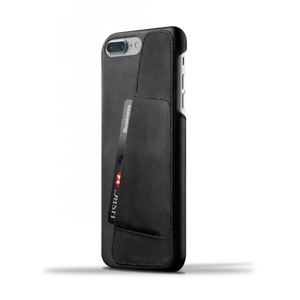Кожаный чехол с отделением для карт MUJJO Leather Wallet Case iPhone 8 Plus/7 Plus Black (MUJJO-CS-071-BK)