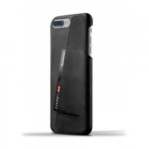 Купить Кожаный чехол с отделением для карт MUJJO Leather Wallet Case iPhone 8 Plus/7 Plus Black (MUJJO-CS-071-BK)