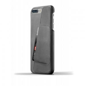 Купить Кожаный чехол с отделением для карт MUJJO Leather Wallet Case iPhone 8 Plus/7 Plus Gray (MUJJO-CS-071-GY)