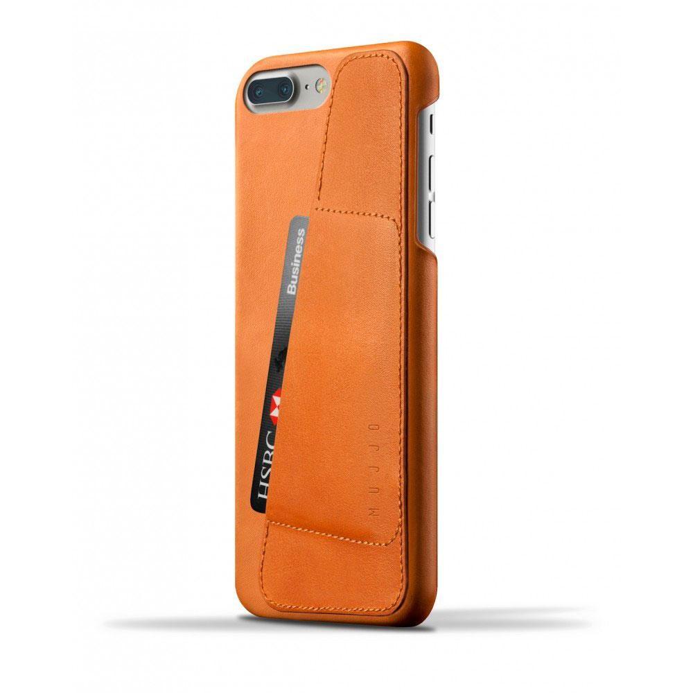 Кожаный чехол с отделением для карт MUJJO Leather Wallet Case iPhone 8 Plus/7 Plus Tan (MUJJO-CS-071-TN)
